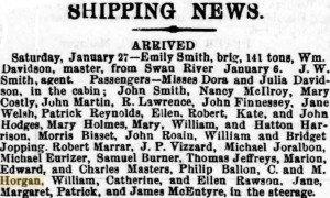 Horgan C & M Arrival [Adelaide Express 29 Jan 1866]