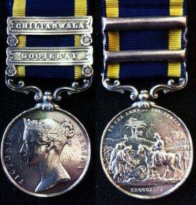 Punjab Medal Goojerat & Chilianwala Clasps (1)
