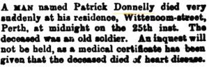 Donnelly Patrick Death