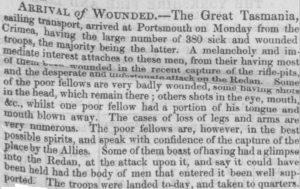Great Tasmania [Lincolnshire Chronicle 31 Aug 1855]