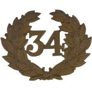 34th Cap Badge