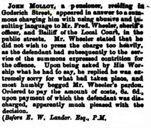 Molloy  offence 1874