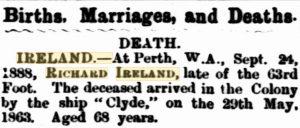 Ireland Death Notice