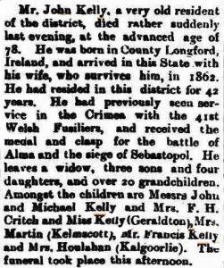 Kelly John (Geraldton Guardian 28 Mar 1908)